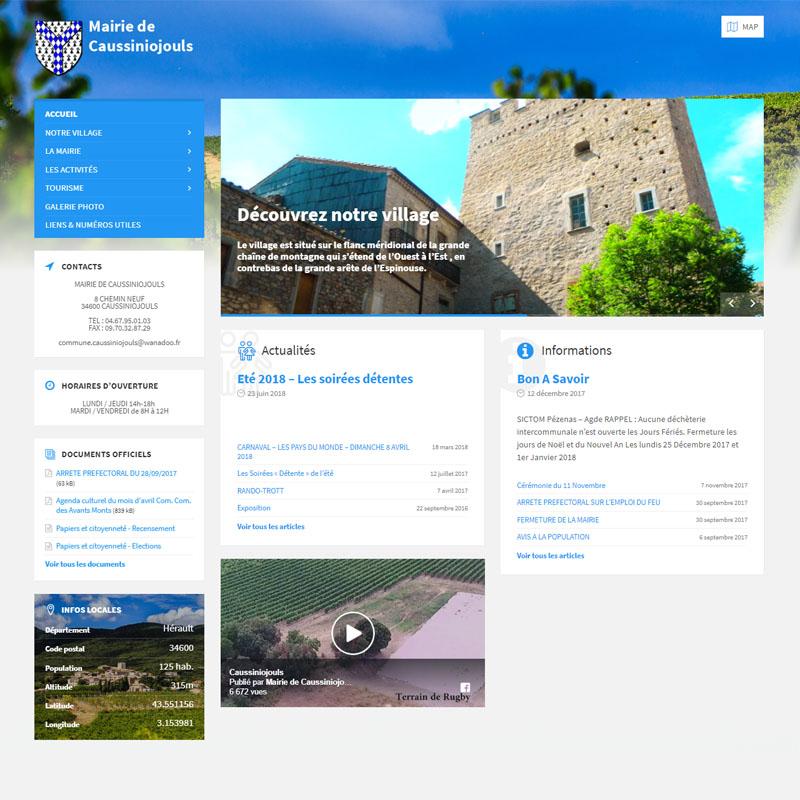 Création site internet Mairie du Caussiniojouls